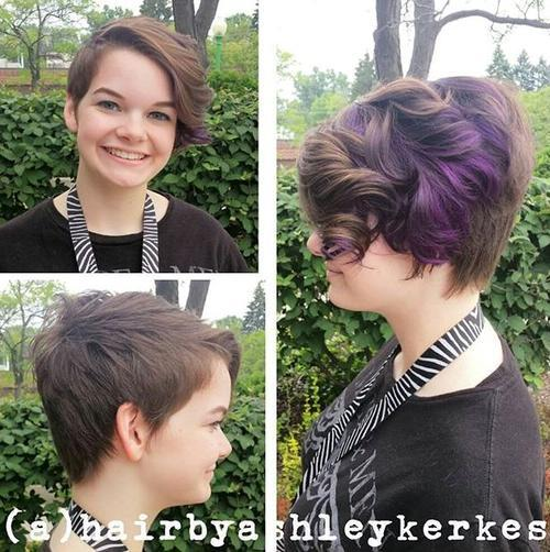 25 Best Hair Color Ideas For Short Pixie Haircuts 2018