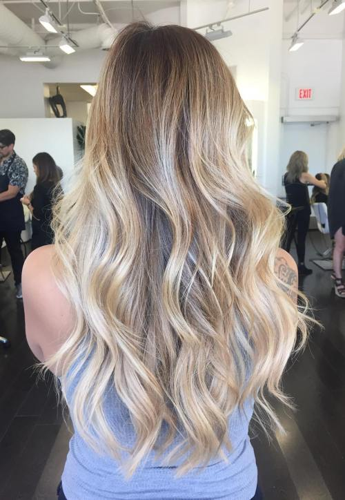 Subtle Waves for Long Hair