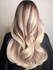 blonde balayage hair design