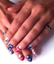 patriotic nail art design