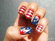 patriotic nail art design