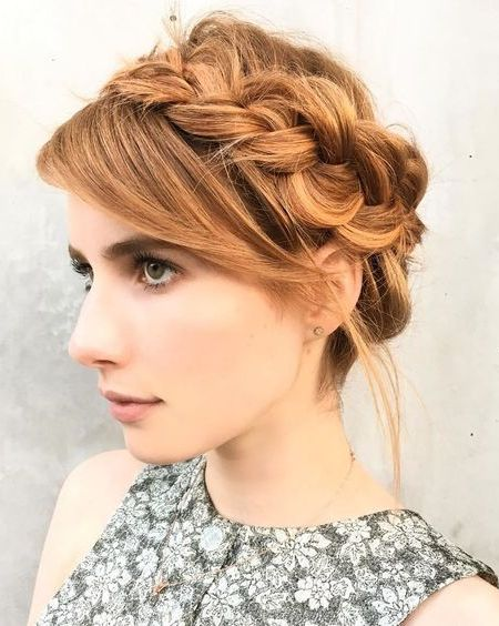 Emma Robert Crown Braid
