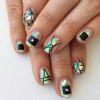 25 Geometric Ways to Make Pretty Nail Arts - Pretty Designs