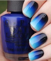 Ombre Blue Nails - Pretty Designs
