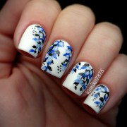 ideas paint blue nails