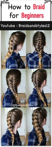 How To French Braid Your Own Bangs To The Side Step By ...