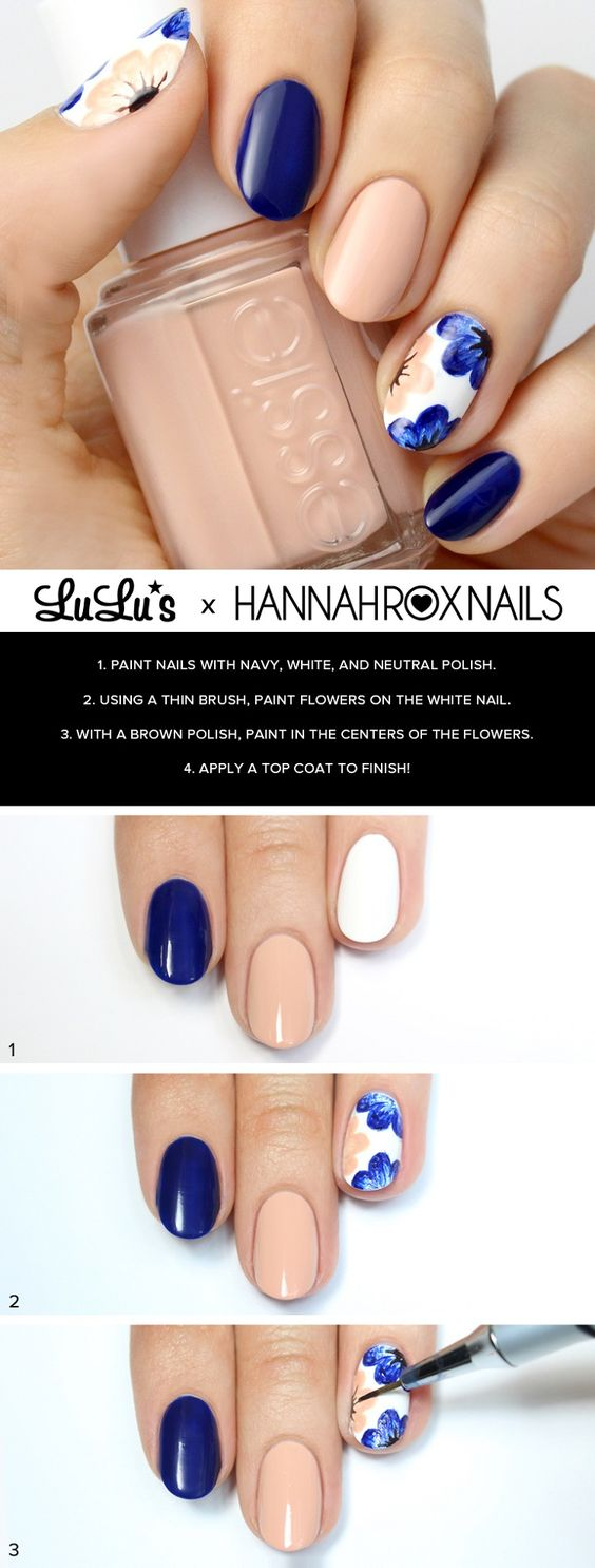 And Blue Fl Nails