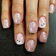 bunny nail design spring