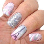 nail design paint eiffel