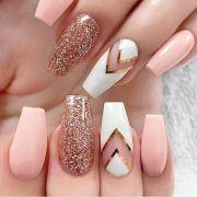 beautiful nail design long