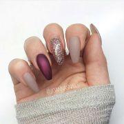 amazing burgundy nail design