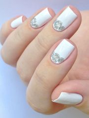 glamorous wedding nail art ideas