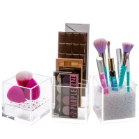 Acrylic Cube Eyeshadow Holder and Makeup Palette Organizer