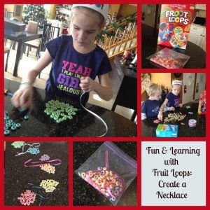 Fruit Loop Patterns & Learning Necklace