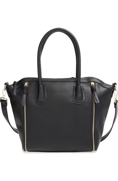 Fall Capsule Wardrobe - The Only 7 Pieces You Need - 'Kaylen' Faux Leather Crossbody Satchel