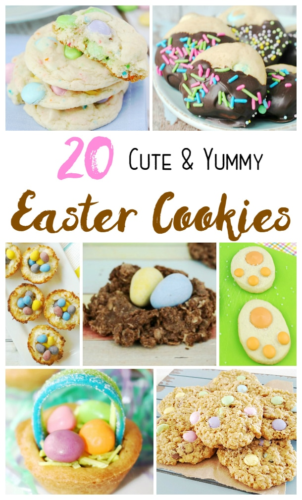 20 Cute and Yummy Easter Cookies - Check out the Funfetti and Easter Bunny Paws - love them!