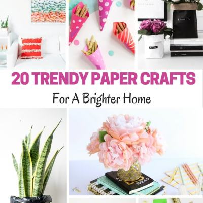20 Trendy Paper Crafts for a Brighter Home