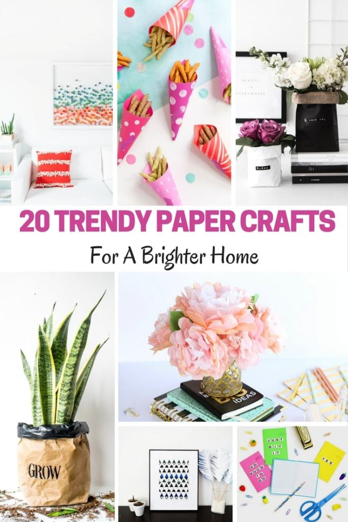 20 Trendy Paper Crafts for the Home