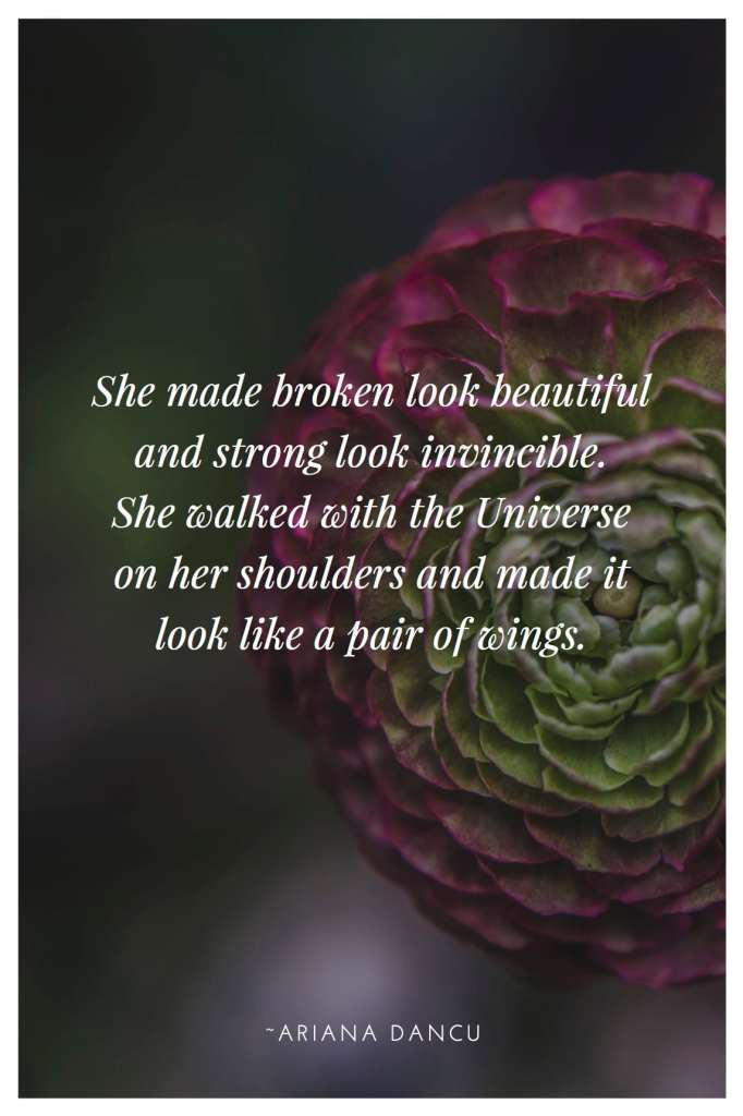 Turning Pain into Progress #WomanInProgress - She made broken look beautiful