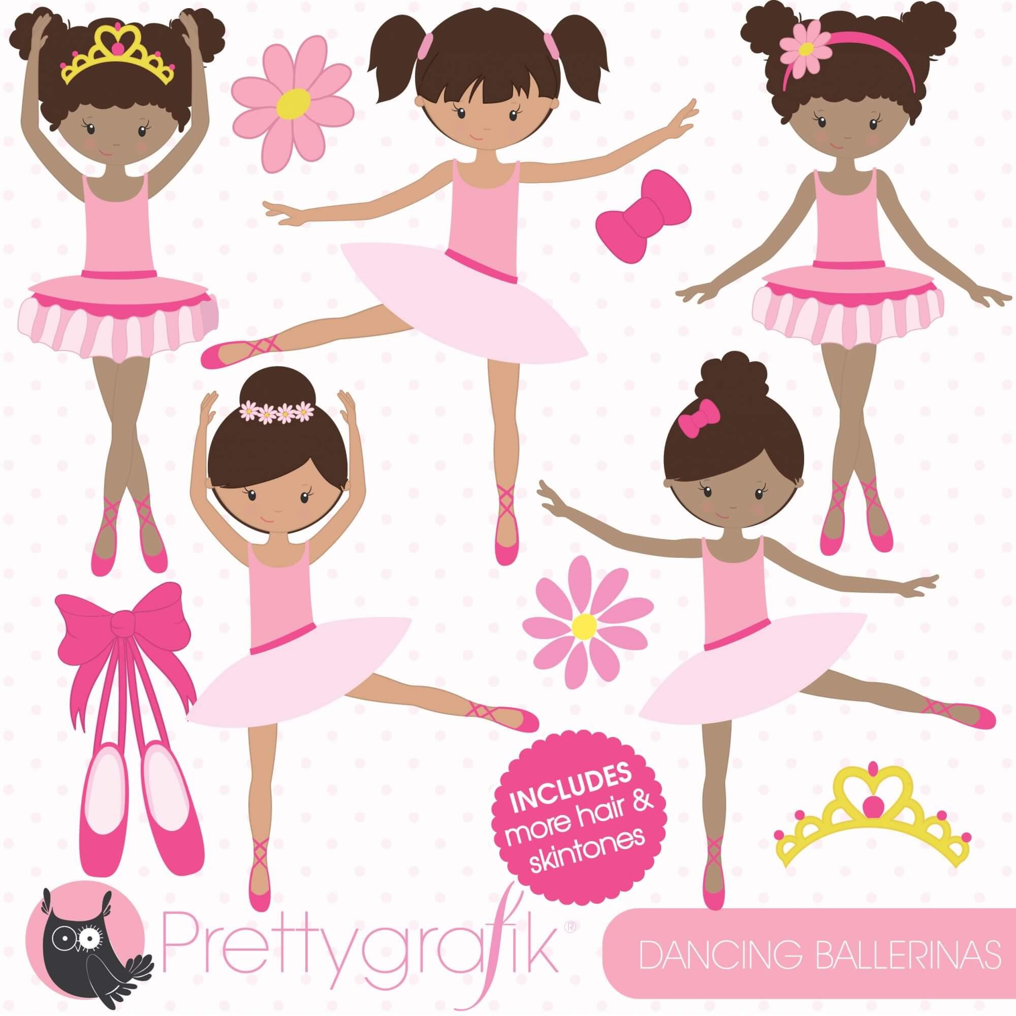 hight resolution of dancing ballerina clipart