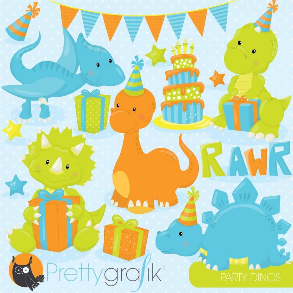 medium resolution of dinosaur party clipart