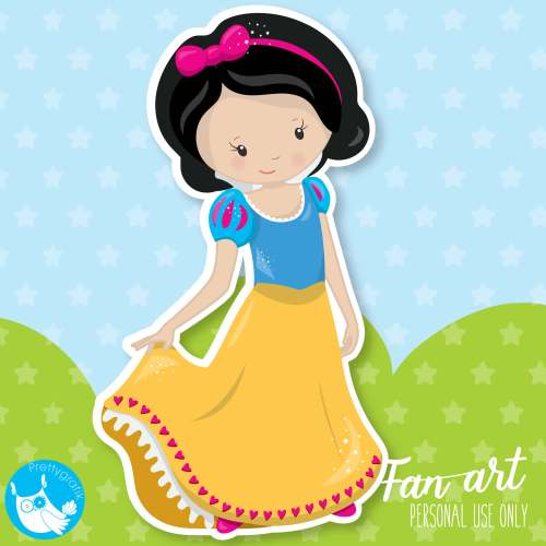 small resolution of snow white clipart