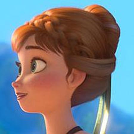 Pretty Hair is Fun Pin of the Day no 3 Anna Hairstyle from FROZEN  Pretty Hair is Fun