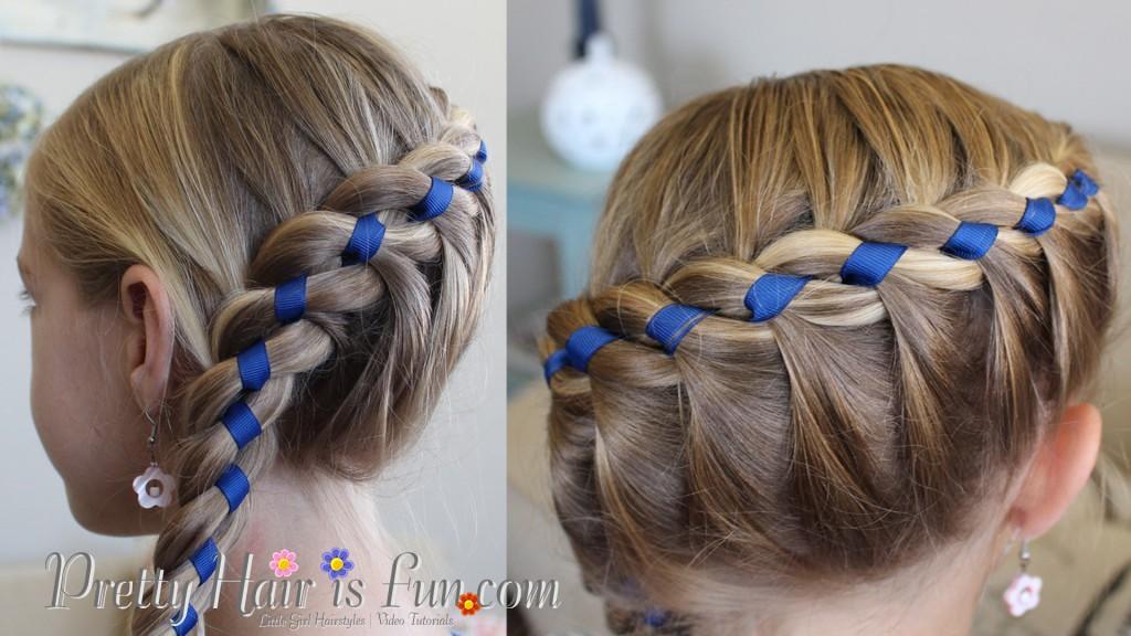 Pretty Hair Is Fun French Four Strand Braid With Ribbon