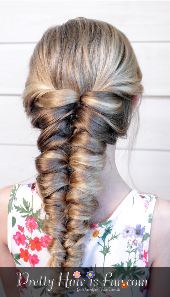 Pretty Hair Is Fun Easy Flipped Twisted Braid Pull