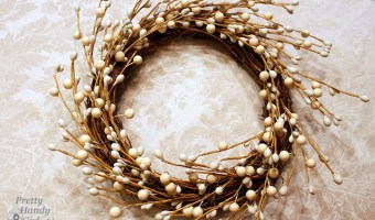 Dried Magnolia Wreath | Pretty Handy Girl