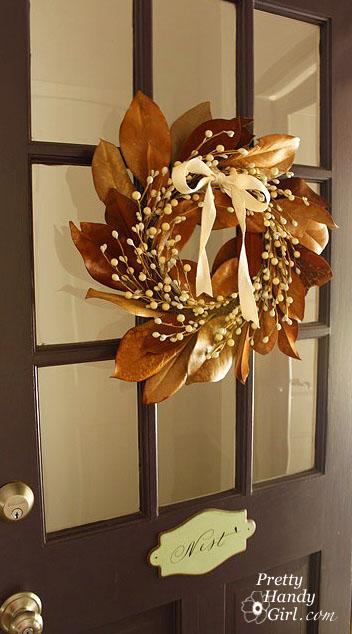 Dried Magnolia Wreath | Pretty Handy Girl