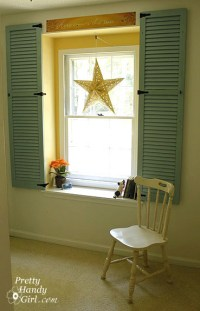 Dressing Up a Dormer Window with Shutters - Pretty Handy Girl