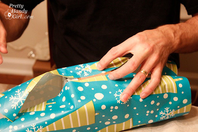 Fixing Common Gift Wrap Problems | OMG! So funny, you have to read this. | Pretty Handy Girl