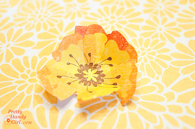 cut out scrapbook paper flower