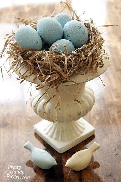 DIY Springtime and Easter Blue Bird Nest