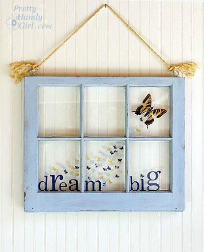 blue window resin art