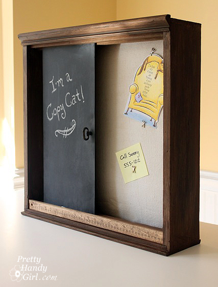 chalkboard paint project - rustic wall organization box