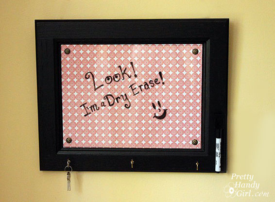 dry erase message board from a cabinet door