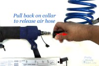 How to Use a Pneumatic Finish Nailer and Air Compressor ...