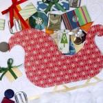 Creative Gift Wrapping Day #5 – Polar Bear, Dove, Holly and a Sleigh