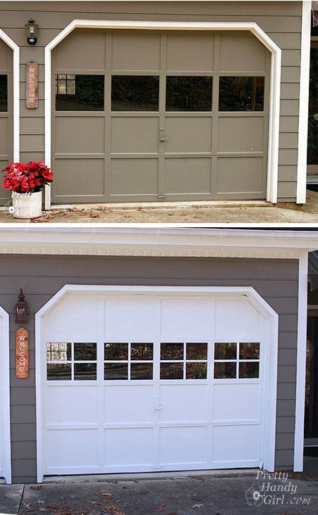 Adding Grilles to Garage Door Windows  Pretty Handy Girl