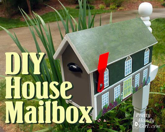 Make a House Shaped Mailbox  a Lowes Creative Idea  Pretty Handy Girl