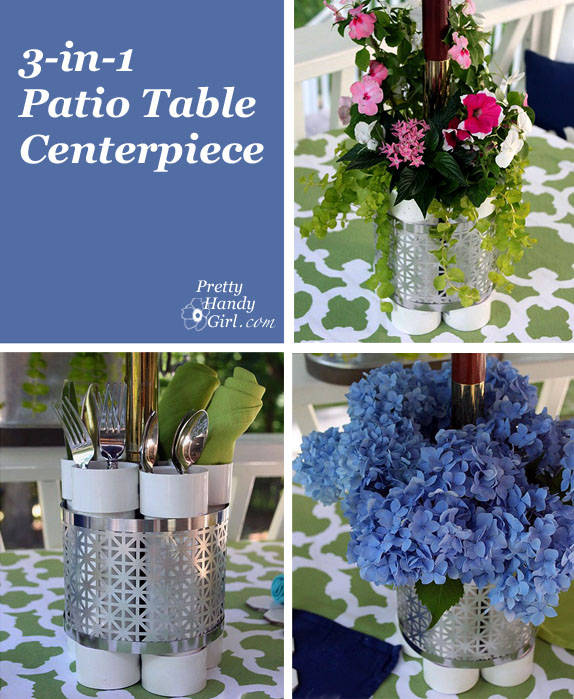 Outdoor Patio Table Planter Vase And Serving Station A