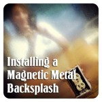 Install Your Own Magnetic Metallic Backsplash a #LowesCreator Idea