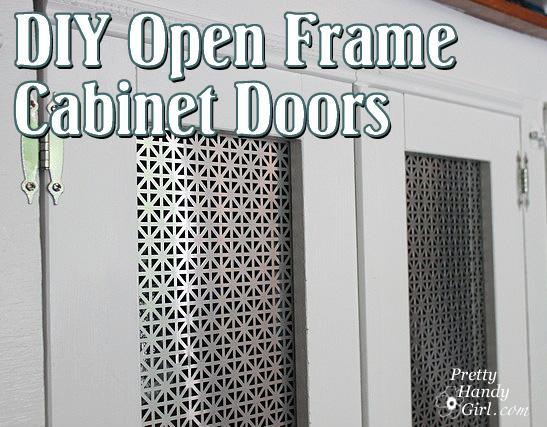 DIY open frame cabinet doors