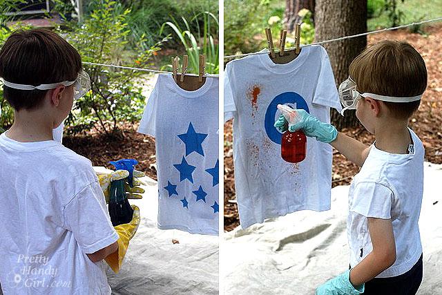 Spray-Dyed T-shirts | Pretty Handy Girl