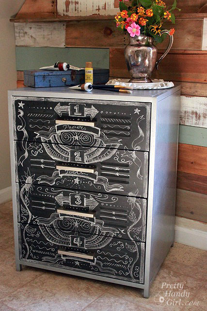 chalkboard paint project chalkboard zinc cabinet beauty shot