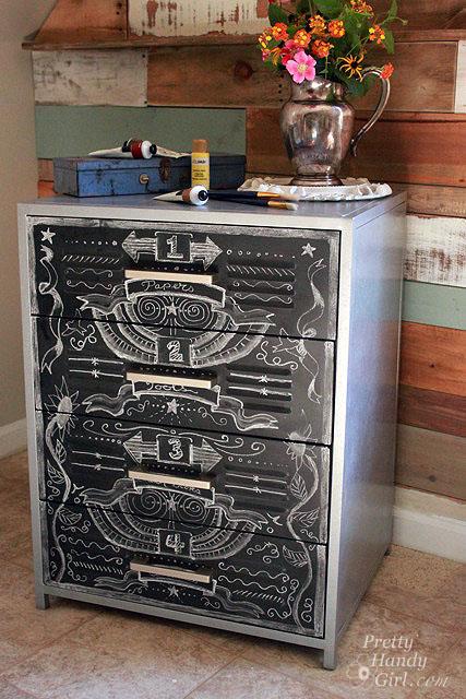 chalkboard paint project chalkboard zinc cabinet beauty shot