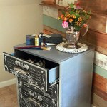 Faux Zinc and Chalkboard File Cabinet