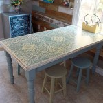 Chalk Painted, Stenciled and Distressed Dumpster Table